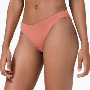 Lululemon NWT rustic coral pool play 8 bikini